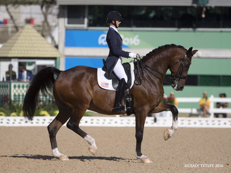 The U S Dressage Team In Third Place Going Into The Final Test For Team Medals