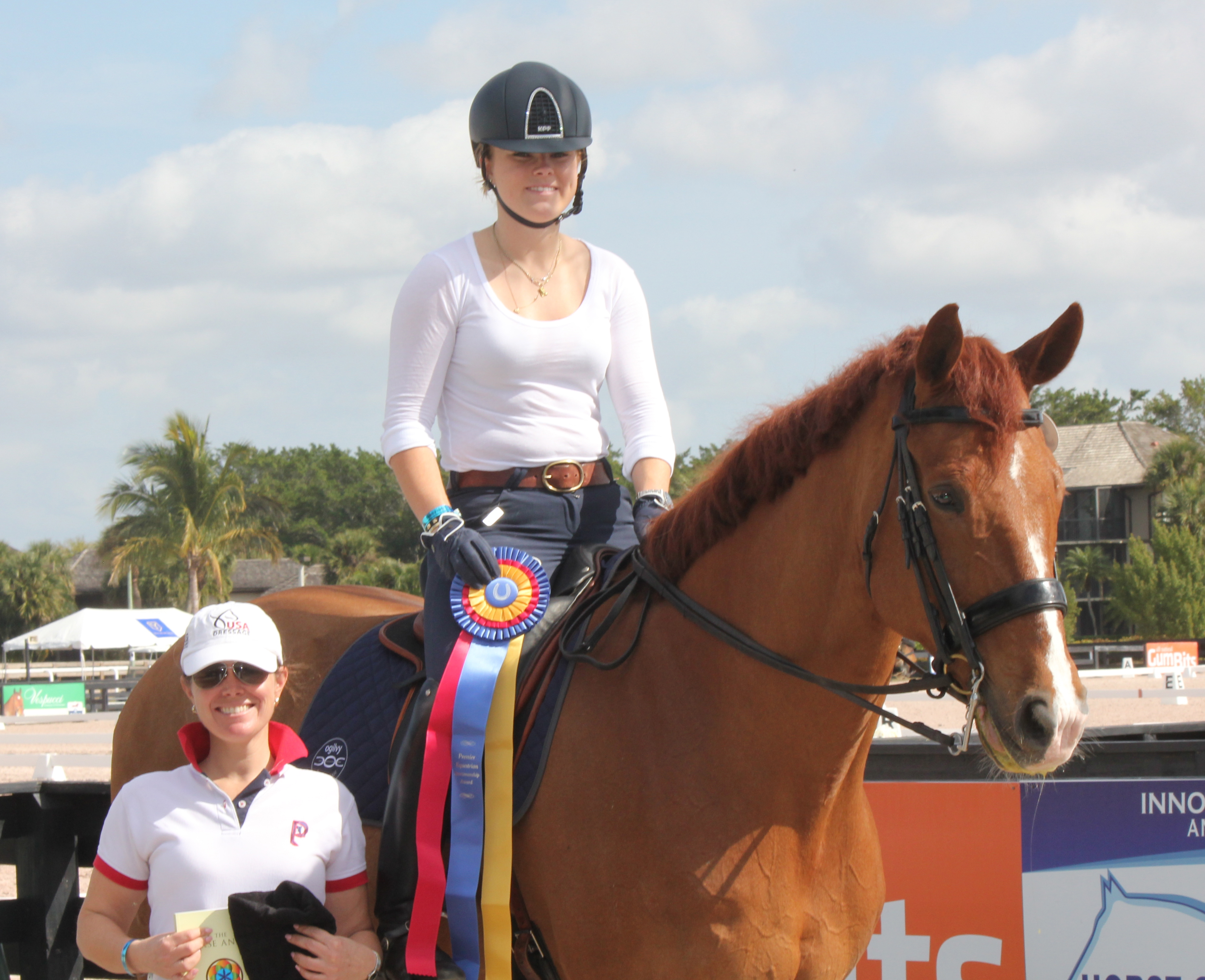Young Dressage Rider Bebe Davis Wins First Place And The