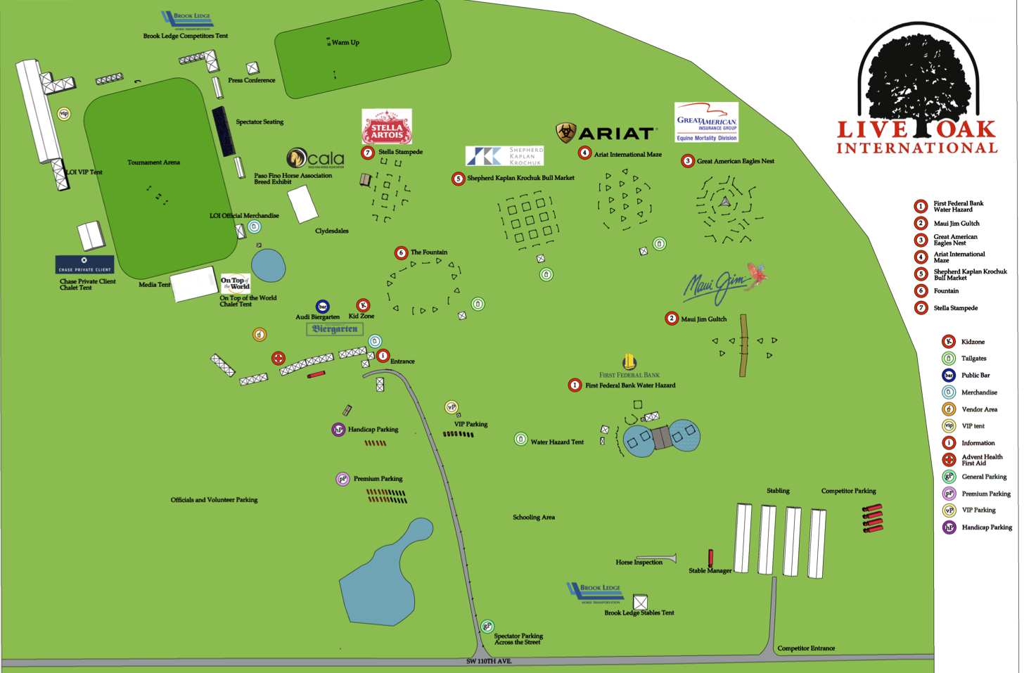 Live Oak Venue Map