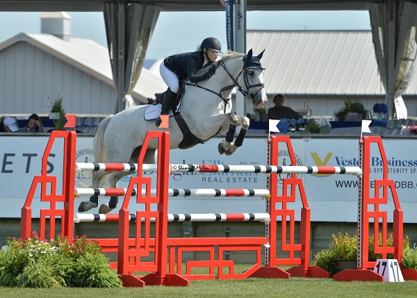 Bronte Gray-Rochon with Williamstown Guidam at the Hampton Classic. Photo Credit:  Shawn McMillen