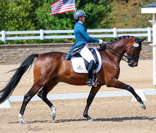 Sara Hassler top U25 Grand Prix Contender knows the value of Haygain ©susanjstickle.com