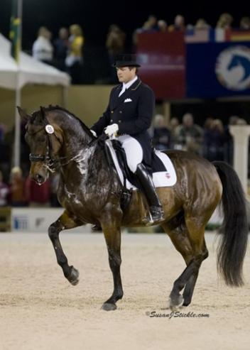 USET Dressage Team Veterans Todd Flettrich and Otto continue to peak following a strong winter season in Florida, ready for the USET Olympic Selection Trials.photo: Susan J Stickle