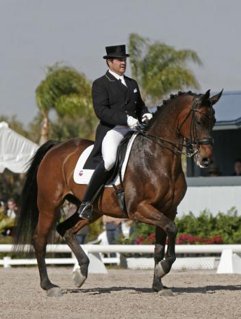 Todd Flettrich and Otto at the 2010 Palm Beach Dressage Derby