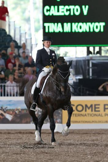 Tina Konyot and Calecto V at the 2013 World Dressage Masters CDI5* Palm Beach (Photo: Susan J Stickle)
