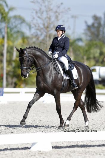 Shelly Francis and Danilo take first in the Prix St. Georges (Photo: Susan J Stickle)