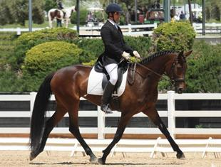 Frederick Magezzeni and Razz Ma Tazz in the Rising Star Training Level Test 1
