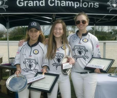 Grand Champions winning team Mia Astrada, Riley Ganzi, Chase Schwartz. Photo by Scott Fisher