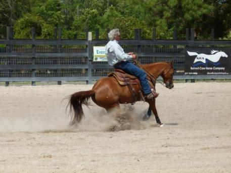 Blair Bynum and Talk About Candy compete at an SBA show at Bynum Farms. Photo by Toni Steed.
