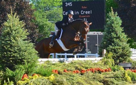 Caitlin Creel rode to the ASPCA Maclay Medal win at the Spring Spectacular I.