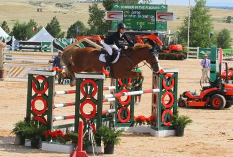 Kristen Blomstrom and Zero's had a clear first round. Photo by Carrie Wirth