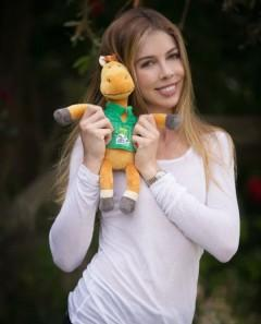 Hannah Selleck with the Alltech FEI World Equestrian Games mascot Norman. Photo by: esphoto.com