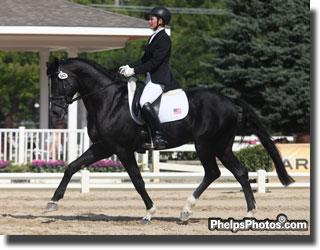 Emily Wagner and Wake Up win the Markel/USEF National Young Horse Championships