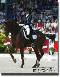 Ulla Salzgeber and Rusty at the Aachen CHIO - 2003 (Photo: Phelpsphotos.com)