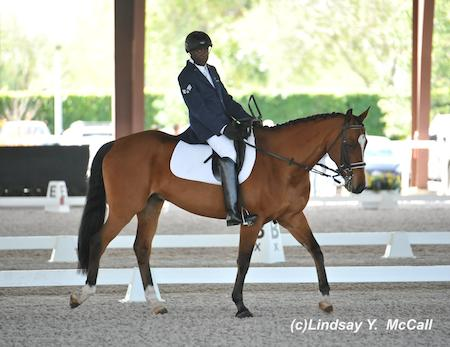 Derrick Perkins and NTEC Hans at the 2014 Adequan Global Dressage Festival CPEDI3*. Photo by Lindsay McCall