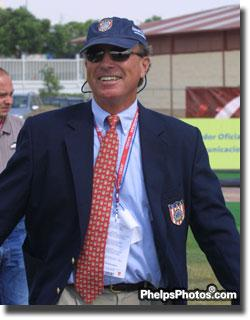 USEF Eventing coach Capt. Mark Phillips team made history.  They won Pan American Team Gold with all five athletes finishing on their dressage scores. This is the first time in history this ever happened.