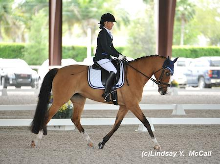 Dr. Deborah Stanitski and Tiramisu at the 2014 Adequan Global Dressage Festival CPEDI3*. Photo by Lindsay McCall