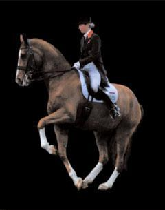 Laura Bechtolsheimer and Mistral Hojris execute the canter pirouette explained in detail by Stephen Clarke Dressage Dreams
