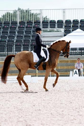 Ashley Holzer of Canada won the FEI Olympic Grand Prix Special in the ,000 Wellington Dressage CDI-W, presented by Magnolia Farm (Photo: SusanJStickle.com)