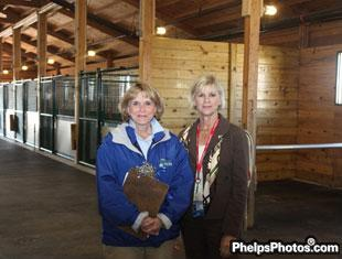 Pat Kline, executive director of the Central Kentucky Riding for Hope program and Kentucky's First lady Jane Beshear an avid horsewoman and supporter of the program.