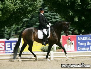 Nancy Smith and Hudson at the Markel/USEF National Dressage Young Horse Championships