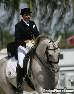 Ingred Lin Competes at White Fences Equestrian Center Dressage Show in 1998. A portion of all entry fees will be donated to the Hospice of Palm Beach County in her name.