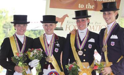 2009 NAYRC Bronze Medal Team l-r: McKenzie Jenkins, Mary Cameron Rollins, Amanda Stearns and Caroline Roffman