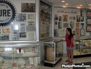 Stefanie Jones checks out the Col Sanders Museum