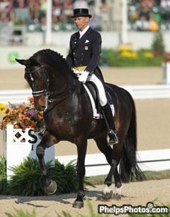 Ravel and rider Steffen Peters at the 2010 Alltech World Equestrian Games - Photo - Phelpsphotos.com