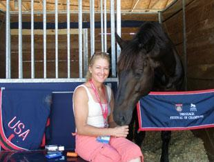 Tina Konyot and Calecto V 2010 USEF Dressage National Champion