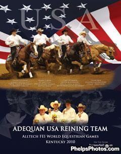 USA Reining Gold Medal Team 2010. Image now available by clicking on this photo