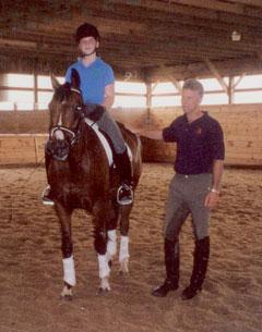 Jocelyn Wiese in a clinic with George Williams