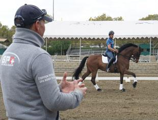 Steffen Peters coaching David Blake and Sir Albert