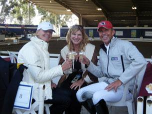 Christine Taurig, DressageDaily's Mary Phelps, and Guenter Seidel