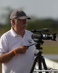 """Rocky"" video taping Whit's Grand Prix at the Palm Beach Dressage Derby"