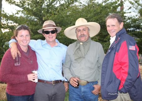 Leslie and Jose Hernandez, Jesus Hernandez and event judge and American four in hand driver Mike McLellan.