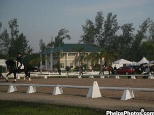 Warm up ring for the International Arena at The Horse Park at Equestrian Estates