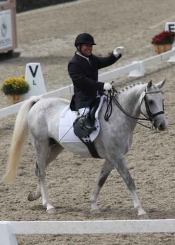 Frederick Win riding Kaboom owned by USEF 'S' judge, Sara Schmitt, at the 2011 NEDA/USEF Para Equestrian National Championships held in Saugerties, NY.