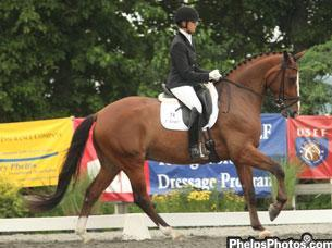Silva Martin and Aesthete with the Markel/USEF Young Dressage Eastern Selection Trials for the 6-Year-Old