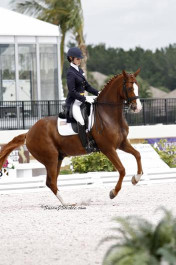 Caroline Roffman and Pie top the FEI Prix St. Georges at the ,000 WEF Wellington Dressage Nations Cup CDIO-3* with a 70.500% (Photo: SusanJStickle.com)