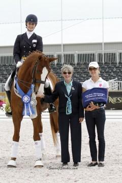 Caroline Roffman and Pie - winners of the Nations Cup Prix St Georges (Photo: SusanJStickle.com)