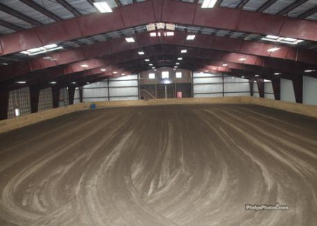Indoor arena provides ample room for year round training, lesson, clinics and club activities.