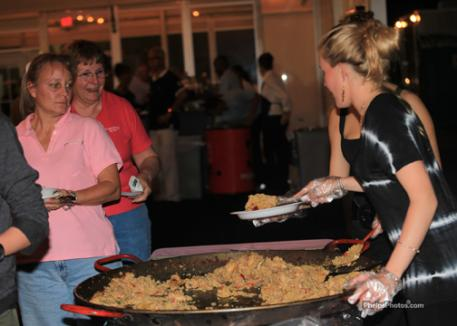 Chef Fredo's Paella a featured dish at the international buffet during the USPRE Party.