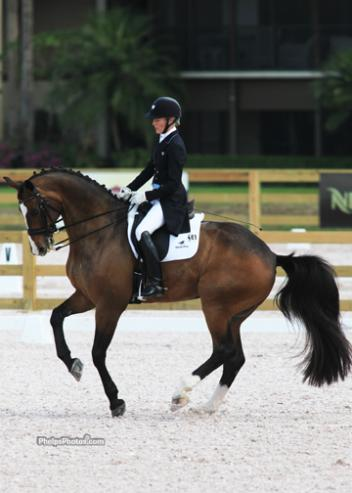 Arlene 'Tuny' Page and Wild One, at the Global Dressage Festival Dressage Classic in their winning ride in the Open Grand Prix. (Photo: Mary Phelps - phelpsphotos.com)
