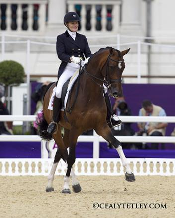 Ashley Holzer of Toronto, ON, riding Breaking Dawn finished 24th individually at the 2012 London Olympic Games (Photo: Cealy Tetley)