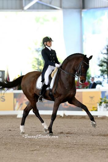 Silvia Rizzo and Donnerbube 2 at the 2013 World Dressage Masters in Palm Beach (Photo: © Susan J Stickle)