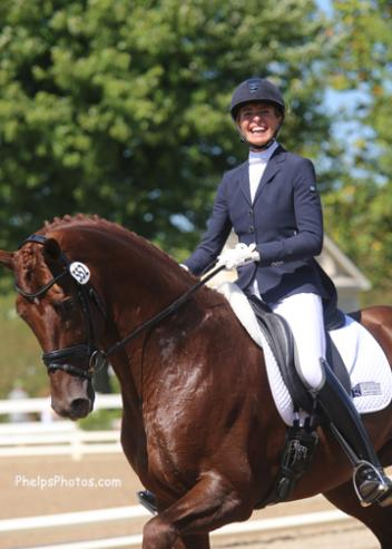 Charlotte Jorst and Vitalis at the Markel/USEF National Young Horse Championships Photo: Mary Phelps