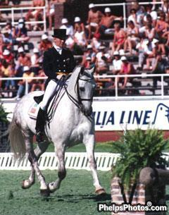 Betsy Steiner and Unanimous at the 1990 Stockholm World Equestrian Games