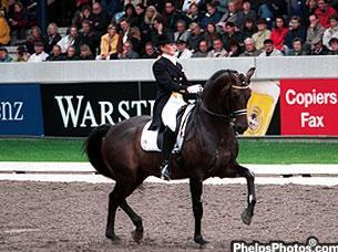 Lisa Wilcox and Rohdiamant at Aachen in 2000