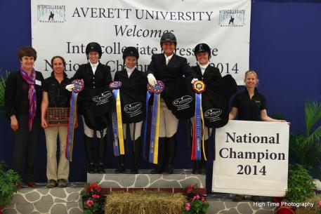 Winners of the IDA Nationals received saddles from Custom Saddlery. (Photo courtesy of Custom Saddlery)