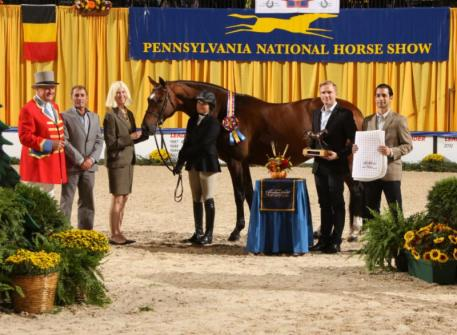 Dr. Betsee Parker's OVATION awarded Junior Hunter Grand Champion for a record third consecutive year